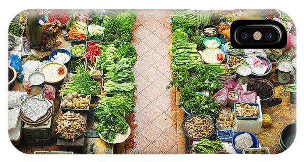Fair iPhone Case - Vegetable Market In Kota Bharu by Szefei