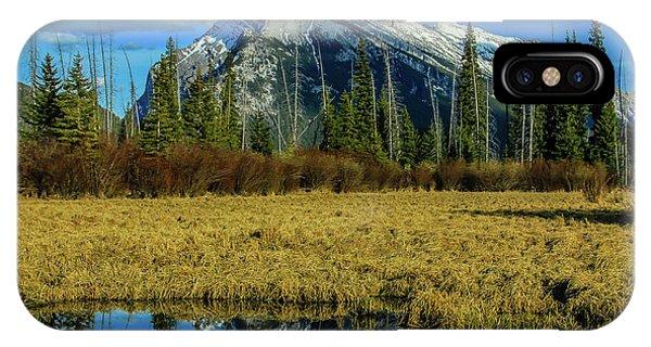 Vermillion Lakes, Banff National Park, Alberta, Canada IPhone Case