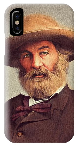 Prime Minister iPhone Case - Walt Whitman, Literary Legend by John Springfield