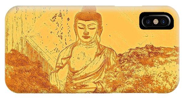 Buddhism iPhone Case - Warm Buddha by Magda Van Der Kleij