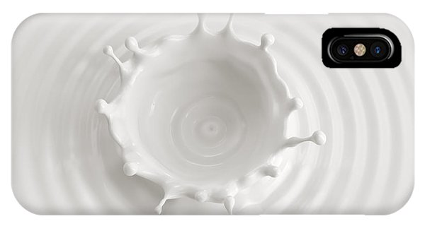 Ingredient iPhone Case - White Abstract Liquid Background, Milk by Wacomka