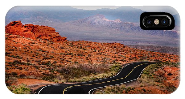 Winding Road In Valley Of Fire IPhone Case