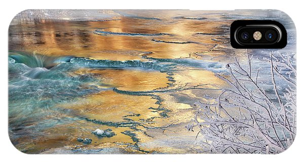 IPhone Case featuring the photograph Winter Azure And Gold by Leland D Howard