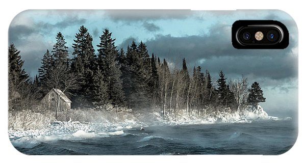Lake Superior iPhone Case - Winter Blues II by Mary Amerman