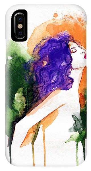 Lush iPhone Case - Woman . Hand Painted Fashion by Anna Ismagilova
