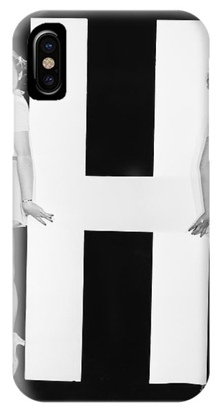 Women Posing With Huge Letter H Phone Case by Everett Collection