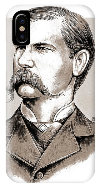 American West iPhone Case - Wyatt Earp by Greg Joens