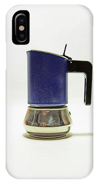 10-05-19 Studio. Blue Cafetiere IPhone Case