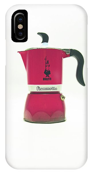 10-05-19 Studio. Red Cafetiere. IPhone Case