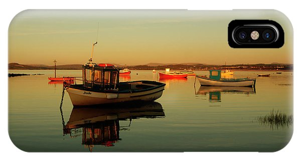 10/11/13 Morecambe. Boats On The Bay. IPhone Case