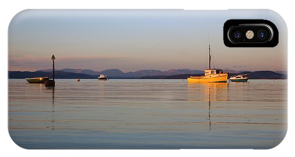 10/11/13 Morecambe. Fishing Boats Moored In The Bay. IPhone Case