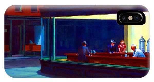 Avenue iPhone Case - Nighthawks by Edward Hopper