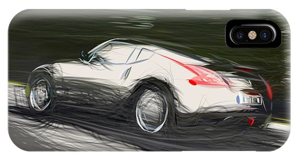 Nissan iPhone Case - Nissan 370z Draw by CarsToon Concept