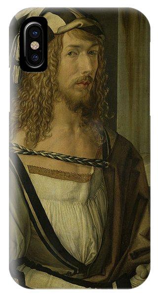 Albrecht Durer iPhone Case - Self-portrait by Albrecht Durer