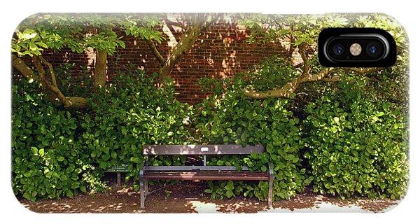 11/05/19 Chorley. Astley Hall. Walled Garden. Sunlit Bench. IPhone Case