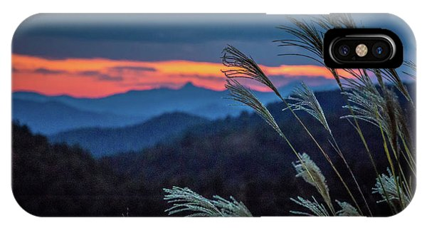 IPhone Case featuring the photograph Sunset Over Peaks On Blue Ridge Mountains Layers Range by Alex Grichenko