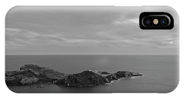 Dawn In Black And White In The Cap De Creus IPhone Case