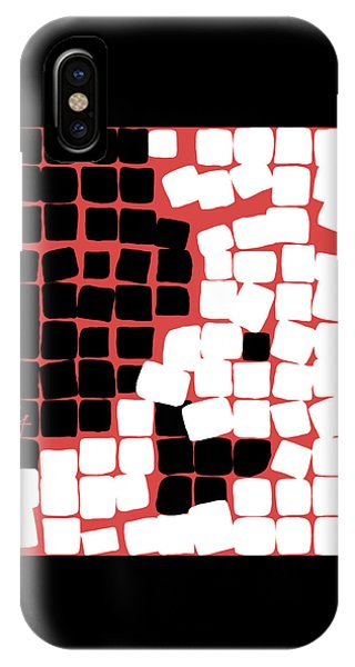 IPhone Case featuring the digital art 11 X 11 Nude by Attila Meszlenyi