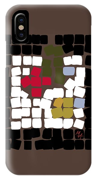 IPhone Case featuring the digital art 11 X 11 Still Life by Attila Meszlenyi