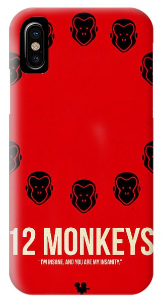 Hit iPhone Case - 12 Monkeys by Naxart Studio
