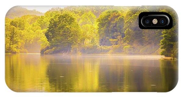 IPhone Case featuring the photograph Julian Price Lake, Along The Blue Ridge Parkway In North Carolin by Alex Grichenko