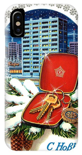 Condo iPhone Case - Vintage Soviet Holiday Postcard by Long Shot
