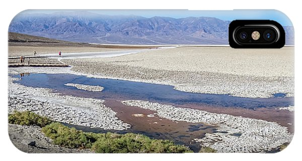 IPhone Case featuring the photograph Badwater Basin Death Valley National Park California by Alex Grichenko