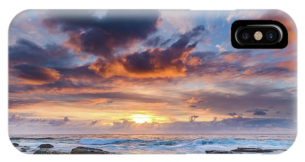 An Atmospheric Sunrise Seascape IPhone Case
