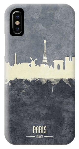 Paris iPhone Case - Paris France Skyline by Michael Tompsett