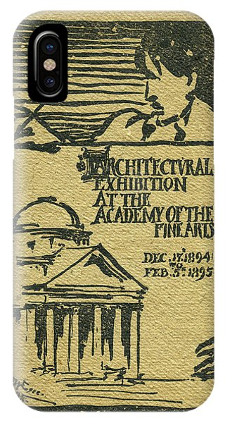 1894-95 Catalogue Of The Architectural Exhibition At The Pennsylvania Academy Of The Fine Arts IPhone Case