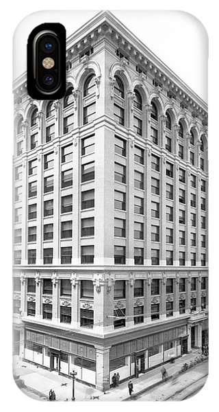China Town iPhone Case - 1912 Central Building  Los Angeles  Ca by Celestial Images