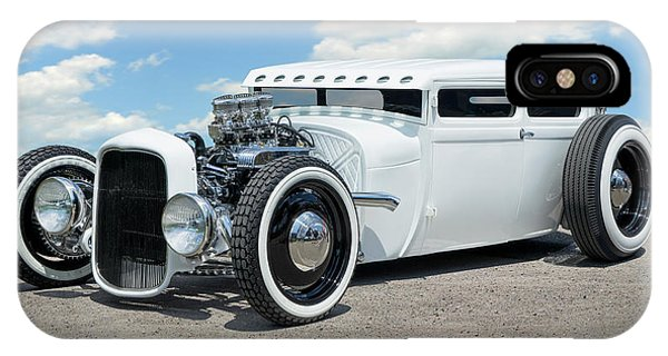 Coupe iPhone Case - 1928 Ford Low Street Rod by Mike McGlothlen