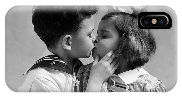 iPhone Case - 1930s Two Children Young Boy And Girl by Panoramic Images