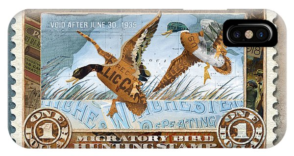 1934 Hunting Stamp Collage IPhone Case
