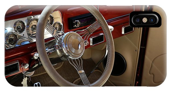 IPhone Case featuring the photograph 1938 Pontiac Silver Streak Interior by Debi Dalio