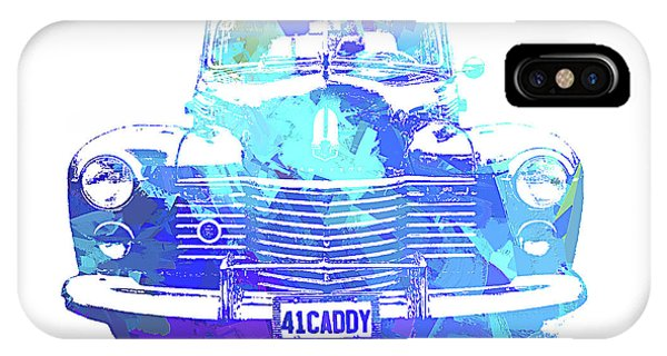 1941 Cadillac Front Abs Blue IPhone Case