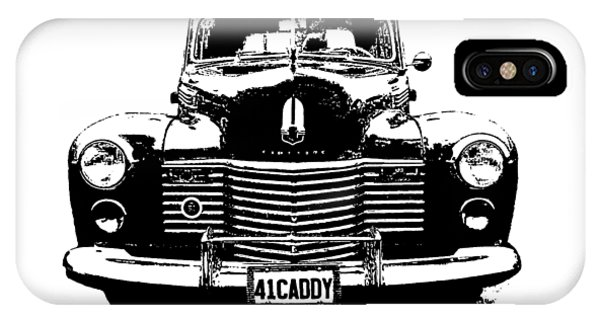 1941 Cadillac Front Blk IPhone Case