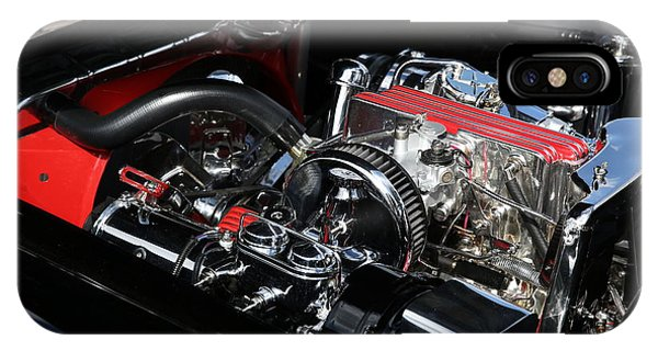 IPhone Case featuring the photograph 1957 Chevrolet Corvette Engine by Debi Dalio