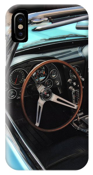 IPhone Case featuring the photograph 1965 Chevrolet Corvette Convertible - Driver Side by Angie Tirado