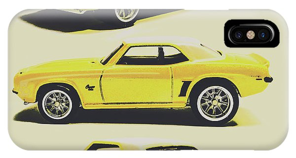 American Cars iPhone Case - 1969 Camaro by Jorgo Photography - Wall Art Gallery