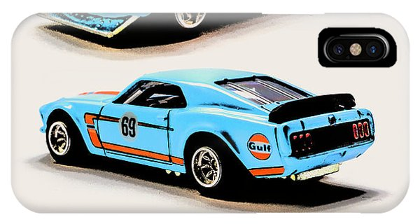 American Cars iPhone Case - 1969 Ford Mustang Boss 302 by Jorgo Photography - Wall Art Gallery