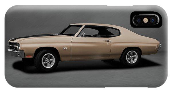1970 Chevrolet Chevelle Ss 454  -  1970chevyshevelless454dblgray196911 Phone Case by Frank J Benz