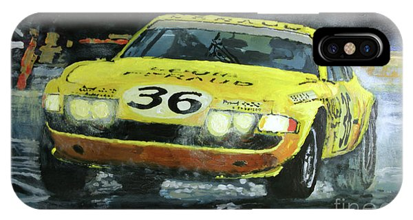 Bell iPhone Case - 1972 Lemans 24 Ferrari 365 Gtb Bell Pilette Bond by Yuriy Shevchuk
