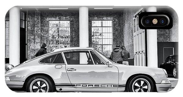 1972 iPhone Case - 1972 Porsche 911 Monochrome by Tim Gainey