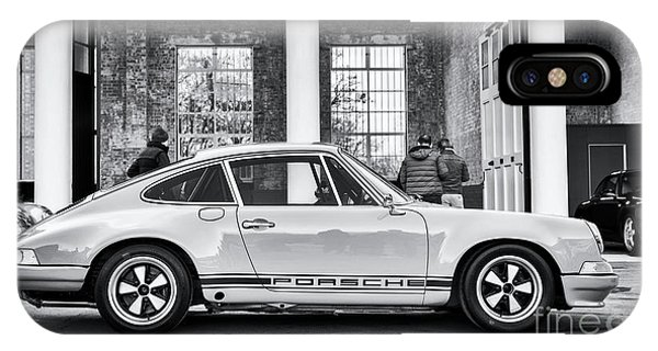 IPhone Case featuring the photograph 1972 Porsche 911 Monochrome by Tim Gainey
