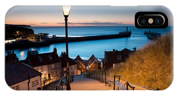 Cloudscape iPhone Case - 199 Steps Of  Whitby In The  North by Stocker1970