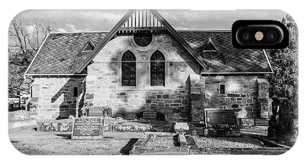19th Century Sandstone Church In Black And White IPhone Case
