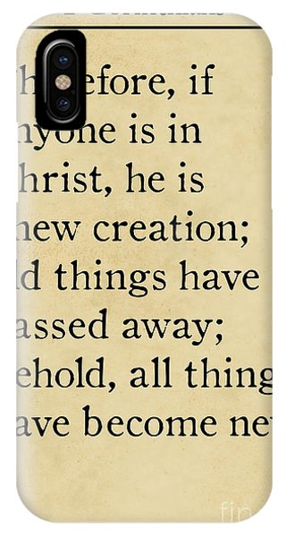 2 Corinthians 5 17 - Inspirational Quotes Wall Art Collection IPhone Case