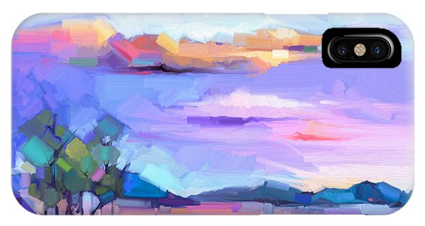 Modern iPhone Case - Abstract Oil Painting  Landscape by Pluie r