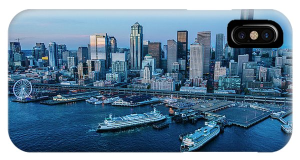 iPhone Case - Aerial View Of A City, Seattle, King by Panoramic Images
